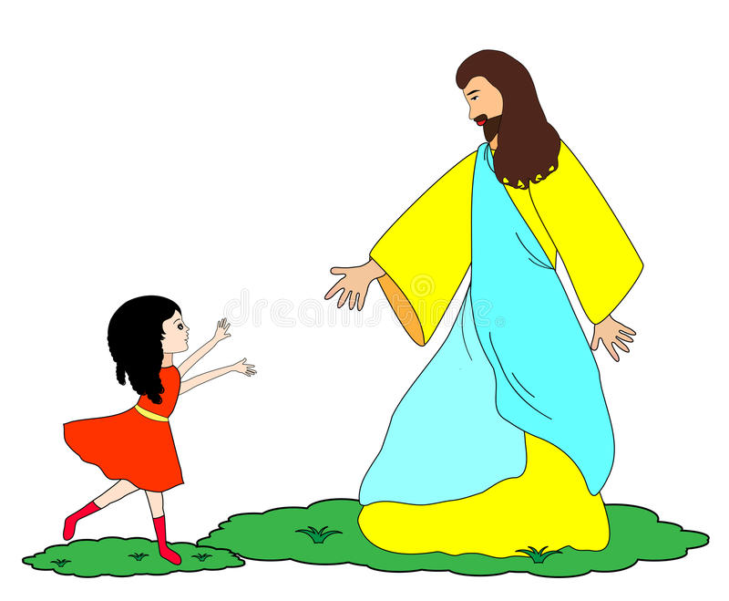 Follow Jesus Stock Illustrations.