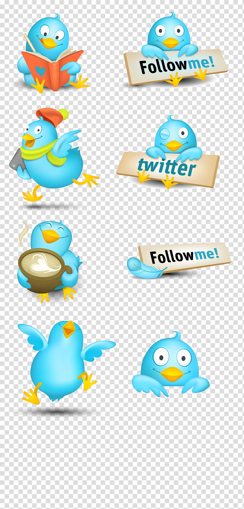 follow me on twitter clipart #3
