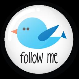 Twitter button follow me Icon.