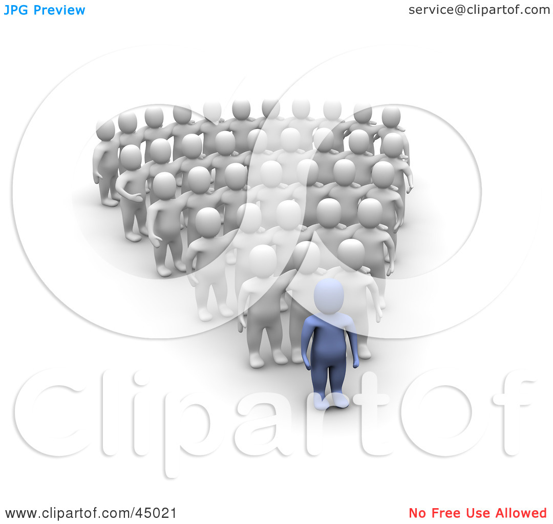Leading And Followers Clipart.
