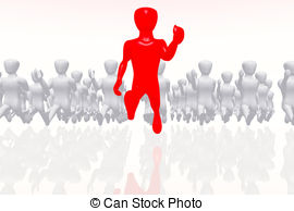 Clip Art of Leader and followers.