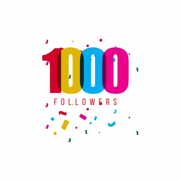 1000 Followers PNG Images.