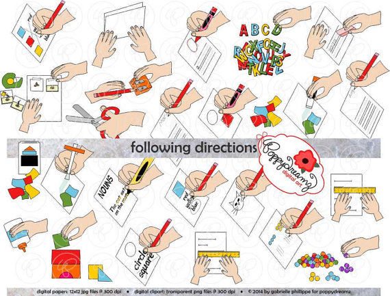 Students Following Directions Clipart.