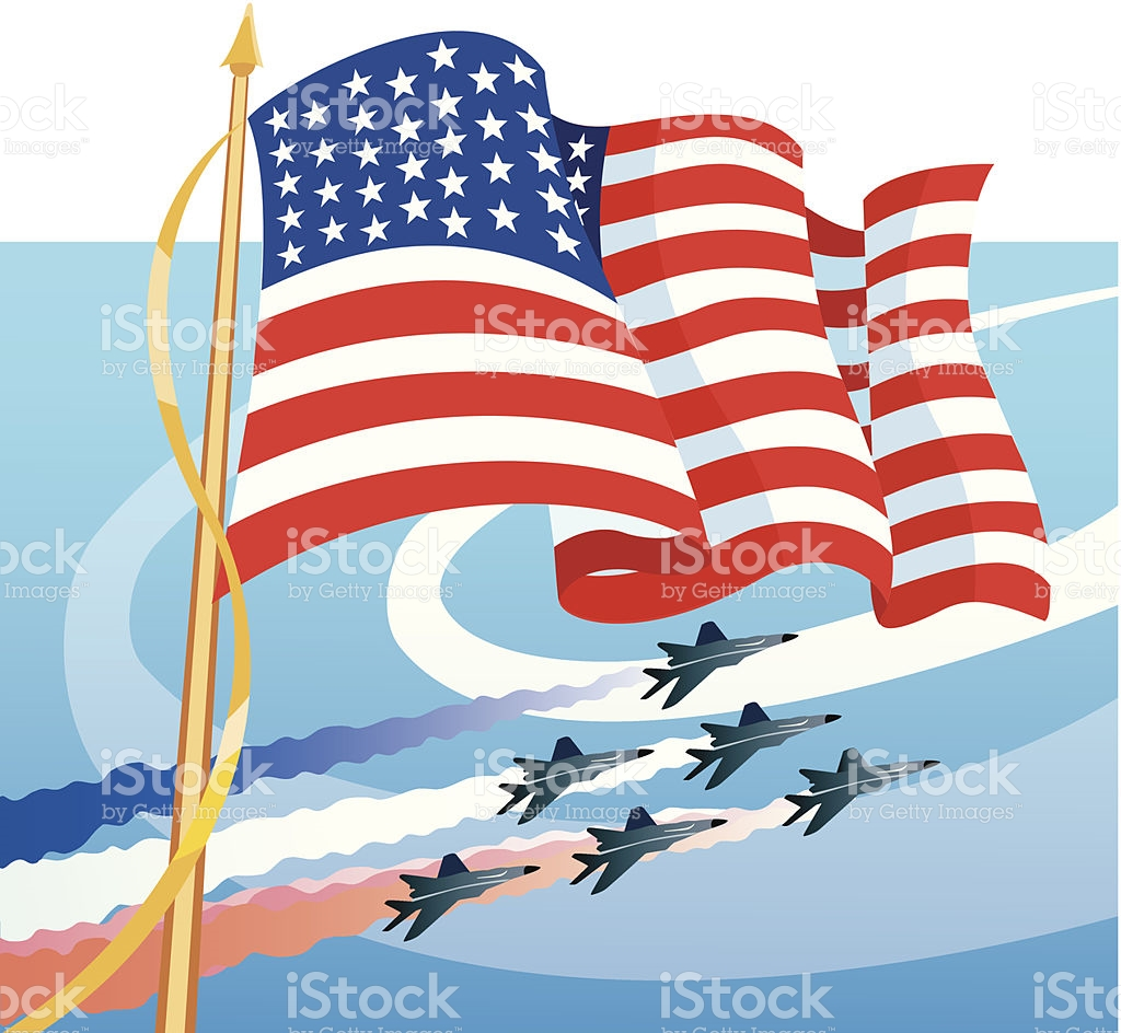Flag Jet Formation stock vector art 463144283.