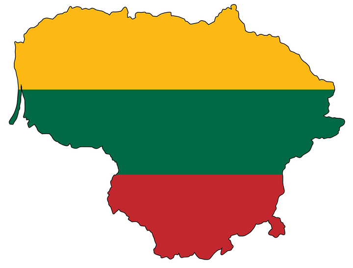 Flag of Lithuania on the Way to the Formation of Lithuanian.