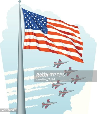 Flag Jets Formation C premium clipart.