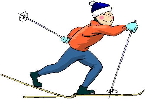 Ski de fond clipart.