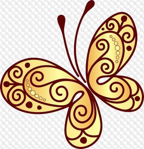 Mariposas Clipart en PSD y PNG en fondo transparente.
