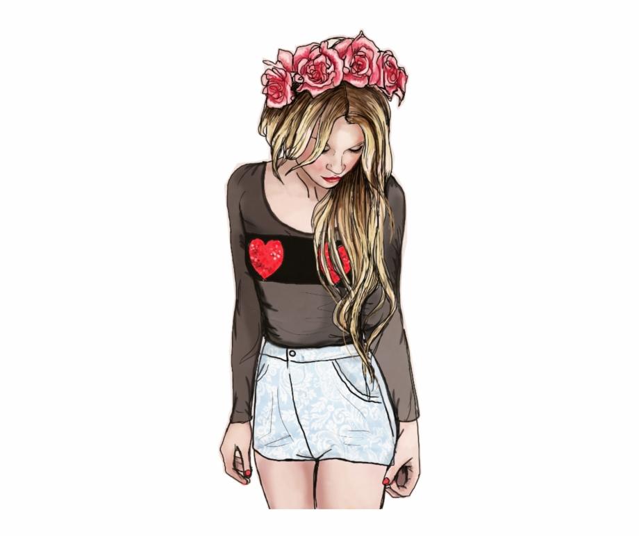 Girl Fashion Drawing Tumblr Png Fondos De Pantalla.