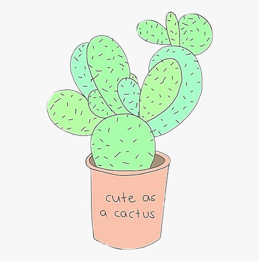 Transparent Cute Cactus Clipart.
