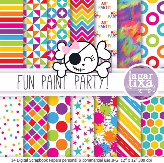 Kit Imprimible Pack Fondos Coloridos Clipart Cod 33.