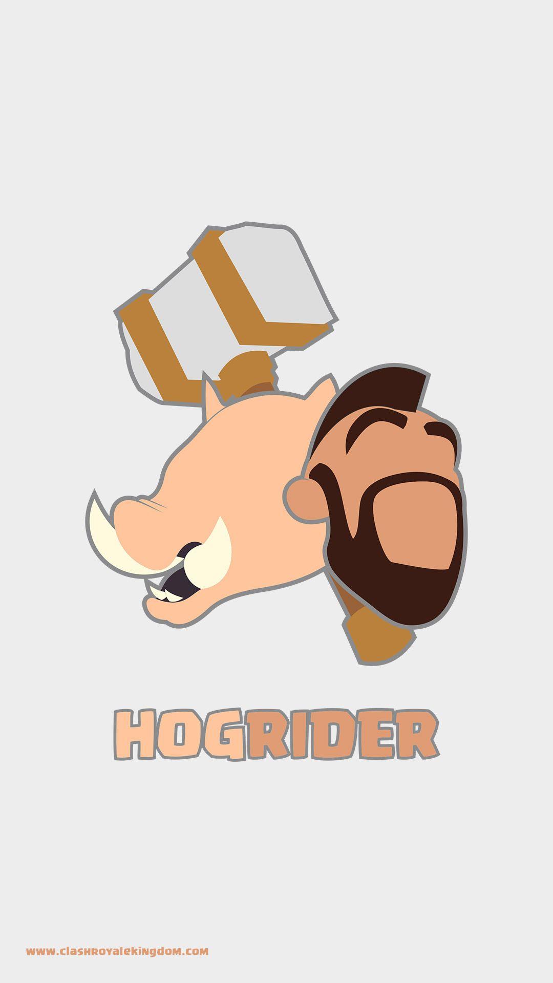 Hog Rider Illustration Clash Royale Wallpaper.
