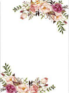Floral Border Clipart en 2019.