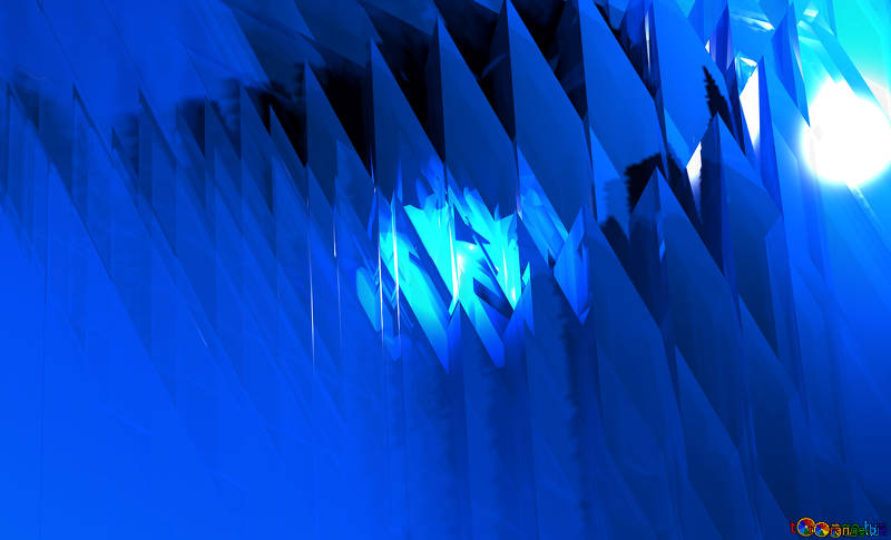 Ornamento geométrico forma futurista azul. fondo abstracto.