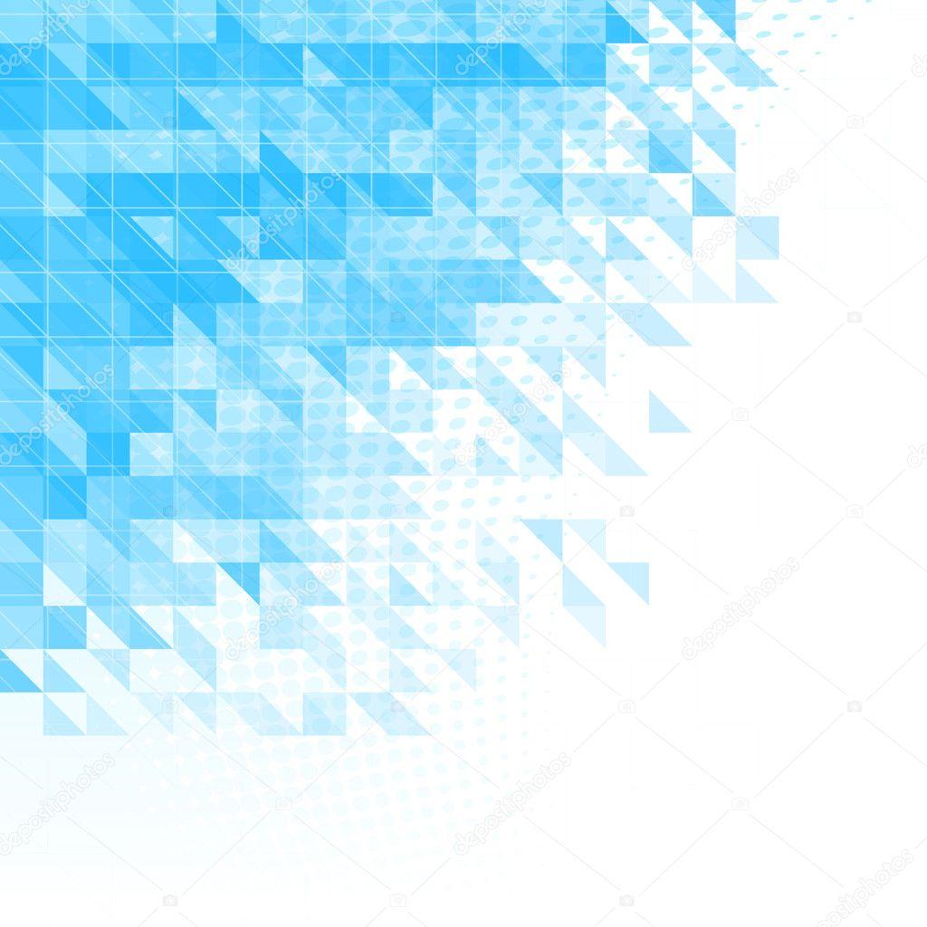Fondos azules con triangulos.