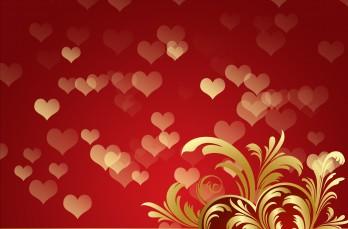 Día de San Valentín fondos rojos con corazones.