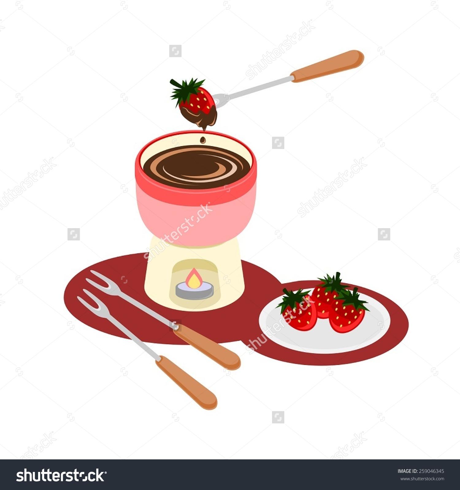 Chocolate fondue clip art.