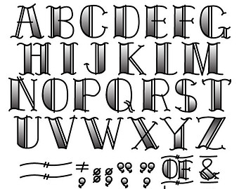 clipart font.