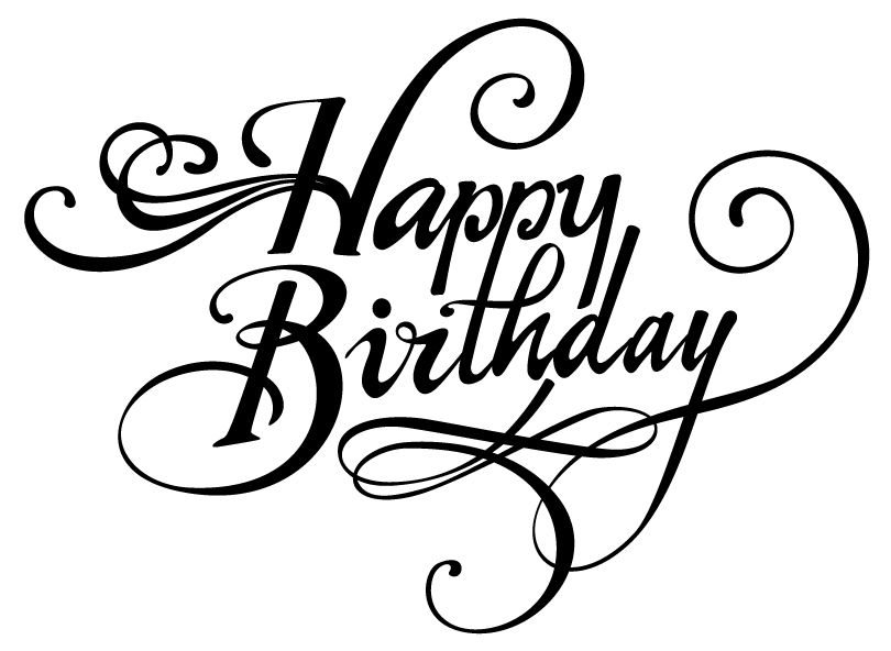 Happy Birthday Font.