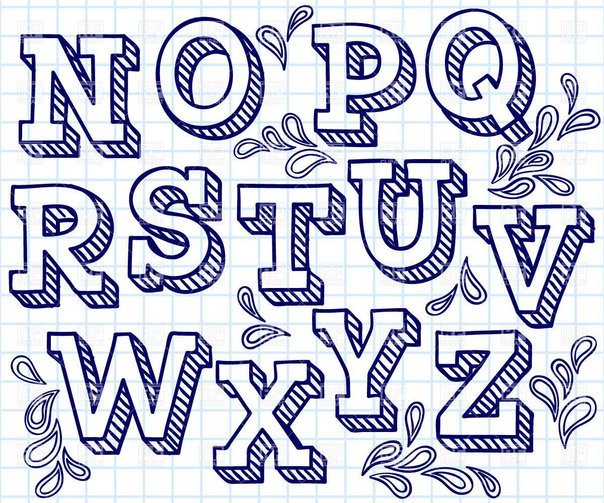 Hand drawn font.