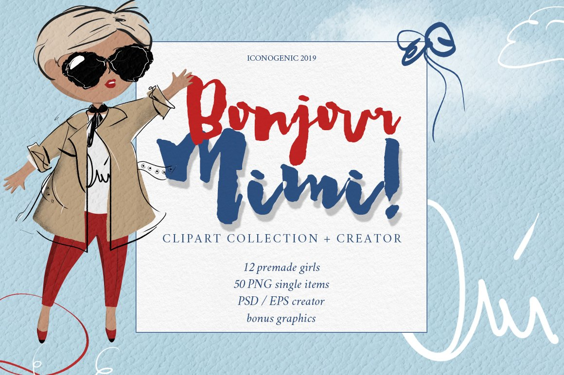 Bonjour Mimi Clipart and Creator.