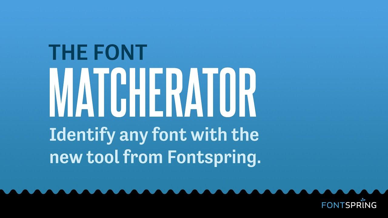 Identify Fonts.