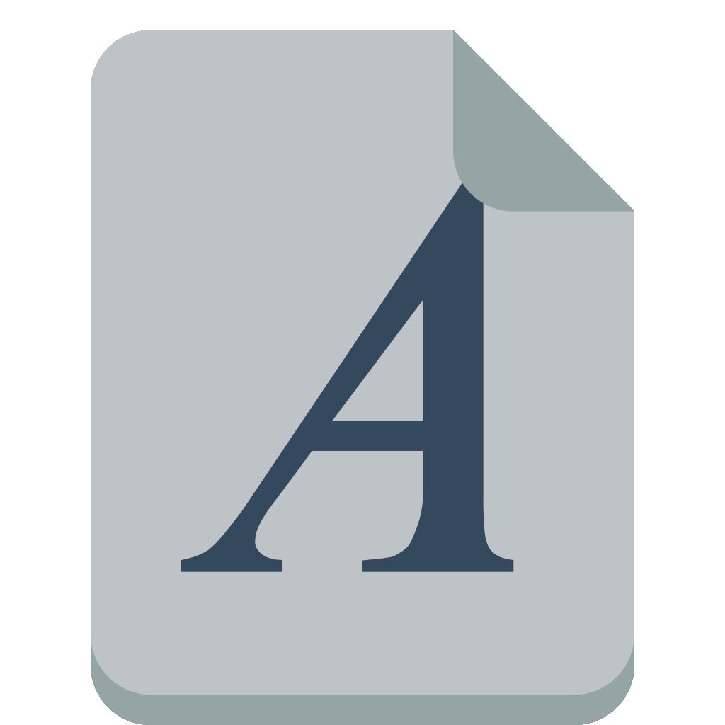File font Icon.