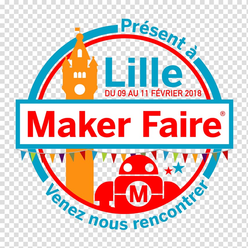 Maker Faire Logo Lille Font Maker culture, maurice.