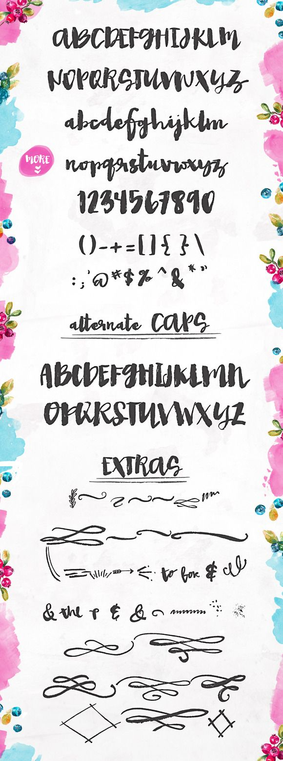 1000+ ideas about Hand Painted Font on Pinterest.