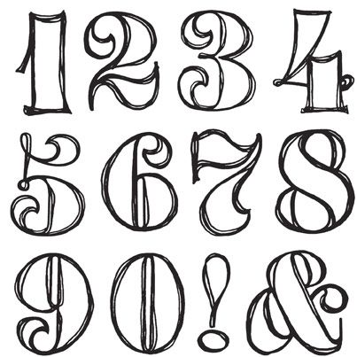 1000+ ideas about Number Fonts on Pinterest.