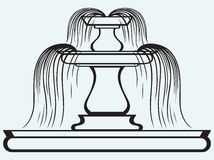 Garden Fountain Stock Illustrations.