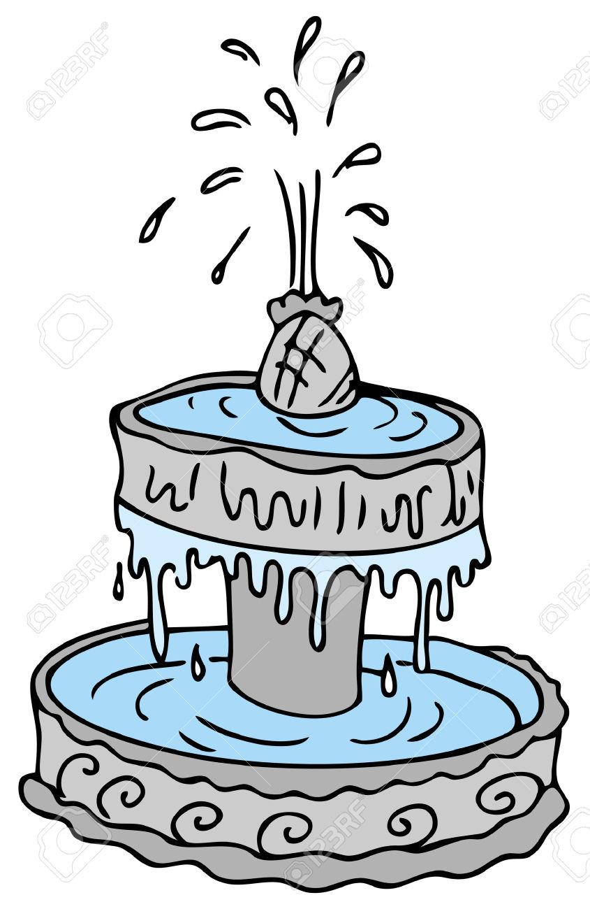 Une Image D'une Fontaine D'eau De Dessin Animé. Clip Art Libres De.