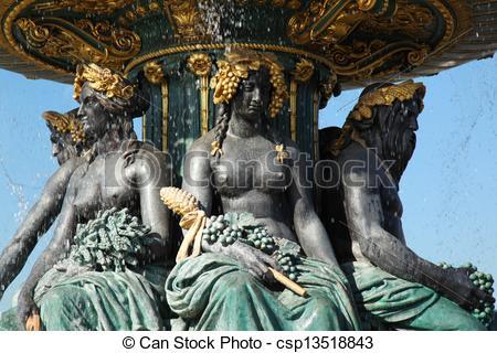 Stock Photo of Fontaine des Mers Paris.