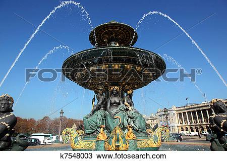 Stock Photo of Fontaine des Mers Paris k7548003.