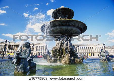 Stock Photo of France, Paris, Place de la Concorde, Fontaine des.