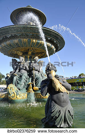 "Stock Photograph of ""Fountain """"""""Fontaine des Mers"""""""", Place de."
