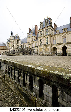 Stock Image of Palace Fontainebleau, ?le.