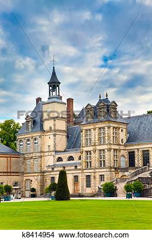 Stock Photo of France. Park and a palace of Fontainebleau k8414954.