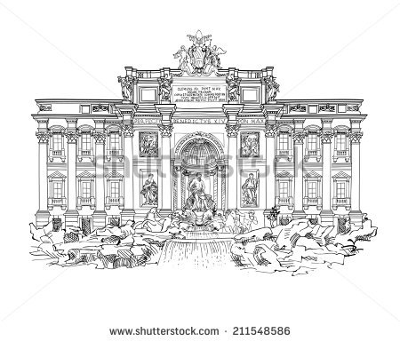 Fontana Di Trevi Stock Vectors, Images & Vector Art.