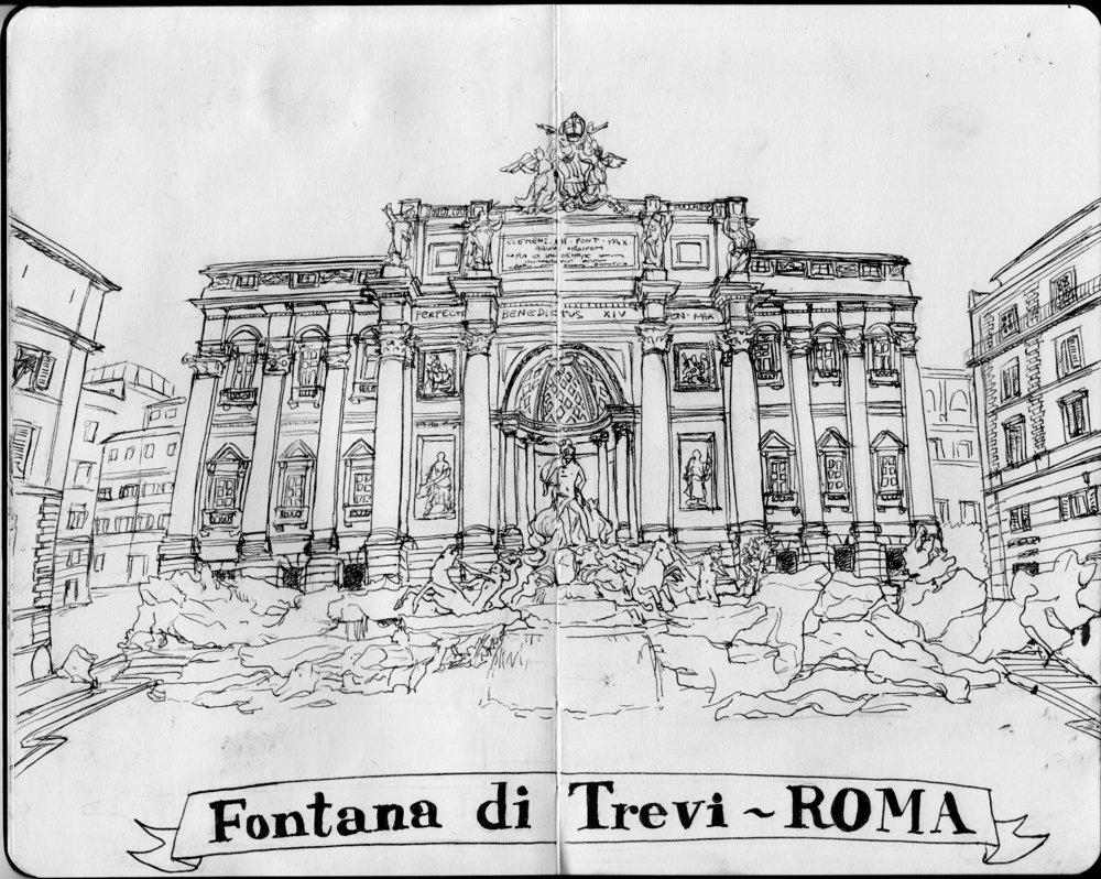 Fontana di Trevi.