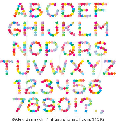 Free clipart fonts.