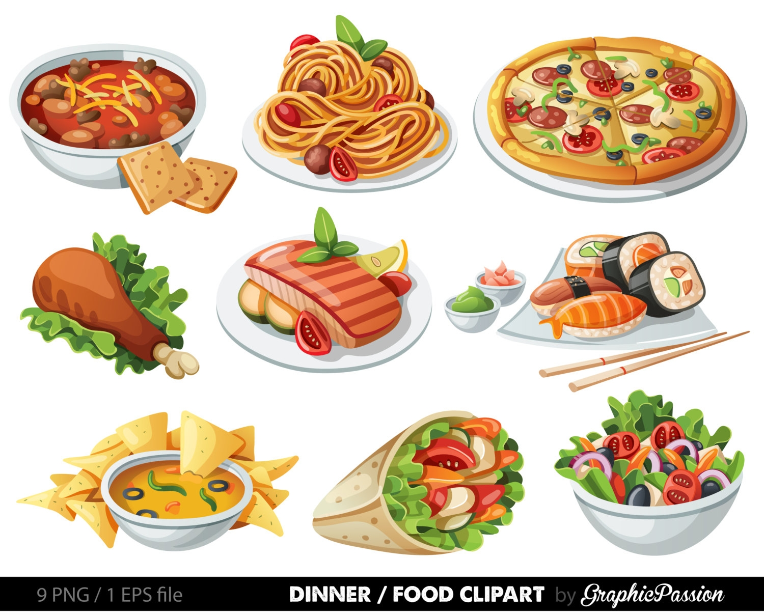 Pictures of food clipart.