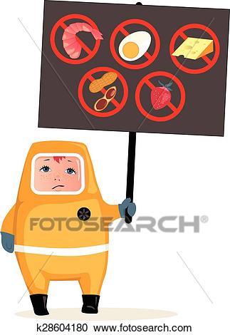 Food allergies Clipart.