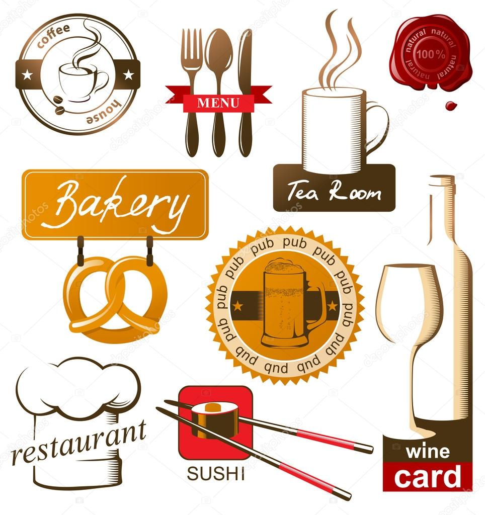 Food and drink logos.