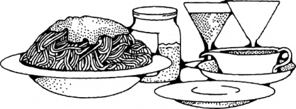 food clipart drink spaghetti clipground