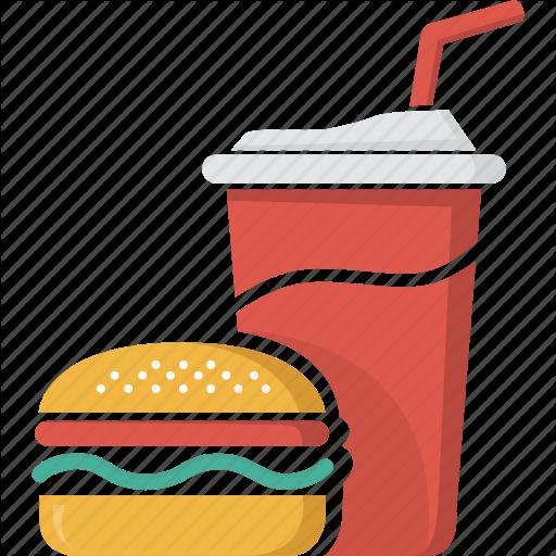 Coca, coke, drink, fast food, food, glass, hamburger, junk food.