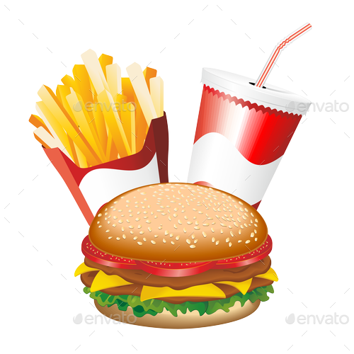 Fast Food Hamburger Fries and Drink Menu PREVIEW png Fries PREVIEW.