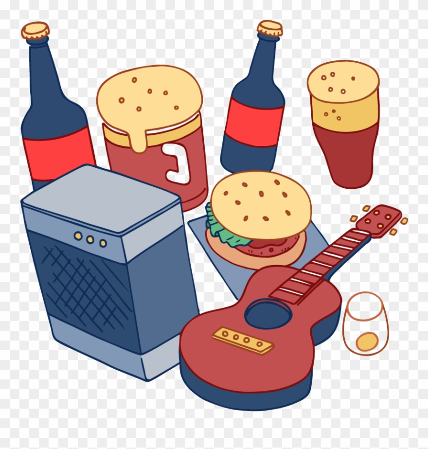 Food, Drinks, Music & More Fun Clipart (#2353413).