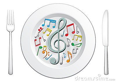Music And Food Clipart.