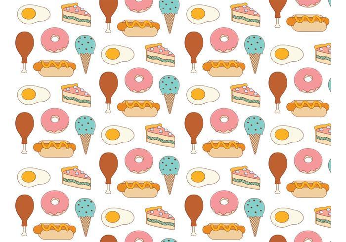 Food Background Pattern.
